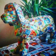 sculpture animaux mickey papier mache chien sculpture : Chien mickey